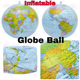 Inflatable Globe Ball Kids Educational Toy Blow Up World Map
