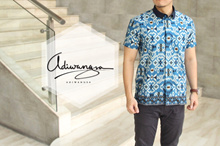 Slim Fit 012 Men's Batik Shirt