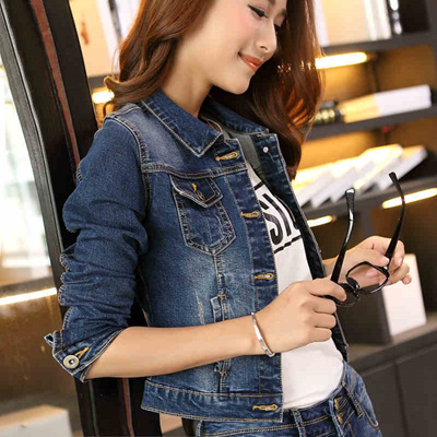 5a1c93575944 Jeans jacket girl Korean version flows wide and short slim slimming thin  Korea plus size denim