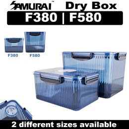 Samurai F-380 F-580 Blue Dry Box with Silica Gel Pack