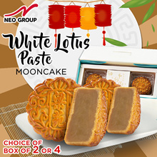 Traditional Mooncake [Ready To Eat] Official Neo Group - White Lotus Paste (BOX of 2 or 4)