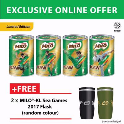 ... MILO KAW 4x500g Random Design Free 2 x Milo. NEW RECIPE Limited Edition MILO KAW 4x500g Random Design Free 2 x Milo. Nestle Milo Malaysia Activ Go 15 Kg ...