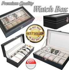 ★ SG Seller ★ Best Quality Watch Case / Luxury Watch Case Box / Jewelry Storage Box / Best Selling Watch Display Case ★ Premium PU Leather ★ Available in 3 Slot / 6 Slot / 12 Slot ★ Premium Quality ★