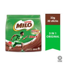 NESTLE MILO 3IN1 ACTIV-GO CHOCOLATE MALT POWDER 30 Sticks 33g Each