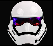 Anakin Skywalker Star war Chewbacca StormTrooper White Helmet Black Gleamy warrior soldier lightsabe