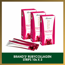 [CONVENIENT JELLY STRIPS] [BUNDLE OF 3] BRANDS InnerShine® RubyCollagen 3 x 10 Strips