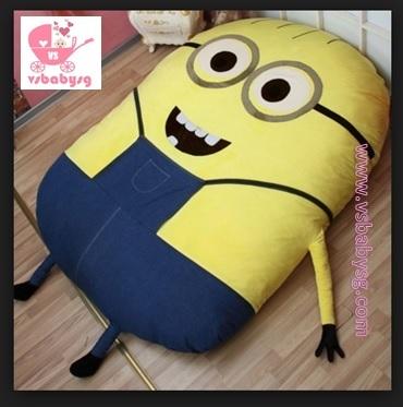 Minions Lazy Sofa Bed Foldable Mattress Tatami Sleeping Bag