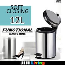 SOFT CLOSING! Premium Steel Waste Bins! ★Thrash/Rubbish Dustbin ★Storage ★Organizer ★Box