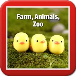 ◤Farm Animals Zoo◥ DIY Terrarium ♡ Duck ♡ Zoo ♡ Horse ♡ Pig ♡ Bear ♡ Chicks