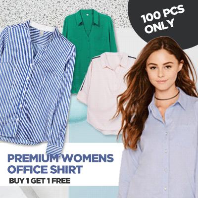 GET 2 PREMIUM SHIRTS // KEMEJA WANITA SLIM FIT // kemeja wanita // kemeja kantor // kemeja Deals for only Rp99.000 instead of Rp99.000