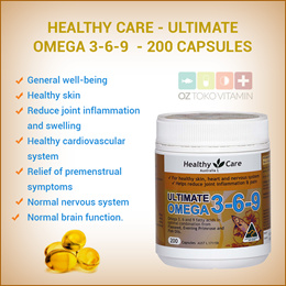 Healthy Care  Ultimate Omega 3-6-9  Fish Oil Evening Primrose 200 Capsules