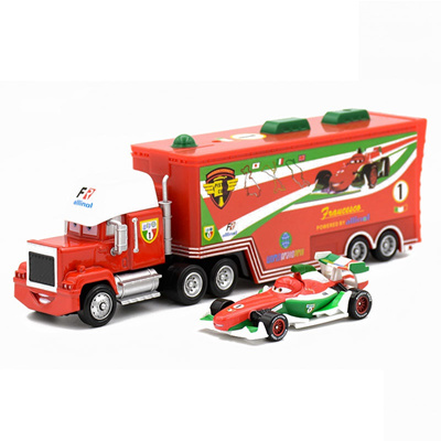 59996a69c0c59 discount Disney Pixar Cars 2 Toys 2pcs Lightning McQueen Mack Truck The  King 1:55 Diecast Metal Allo