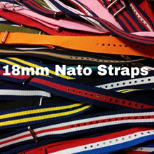 Nylon Nato Straps size 18mm (Free Local Postage)