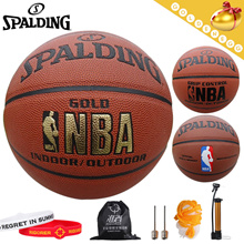 Free Gift (Air pump+Bag)▶SPALDING® Authentic Basketball◀GCA - NBA/Enthusiastic Life/Sports/Outdoor