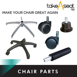 Office Chair Accessories Spare part for sale. Nylon/Aluminum leg frame *Roller wheels* gas spring