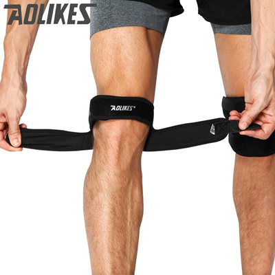 d202a0b4e8 Aolikes 1PC Knee Support Patella Belt Elastic Bandage Sport Strap Knee Pads  Protector Band Football