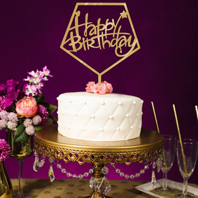 1151702cm Acrylic Happy Birthday Cake Topper Party Supplies Decorations