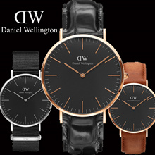 CLASSIC BLACK ★ Daniel Wellington Watch ★ 40mm / 36mm Pecinta Tonton 100% Asli DW Jam tangan