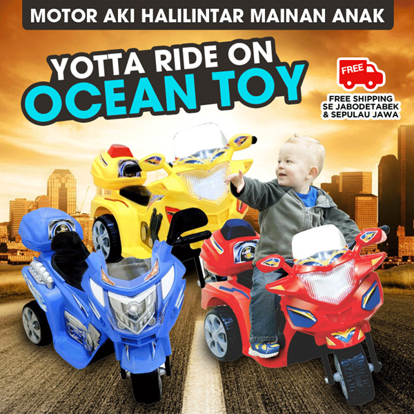 BEST SELLER!! ALL ITEM Ocean Toy FREE ONGKIR Yotta Ride On Motor Aki Halilintar Mainan Anak Deals for only Rp1.249.900 instead of Rp1.249.900