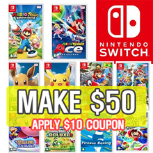 [MAKE $50] Nintendo Switch Game collection /super mario / pocketmon etc.