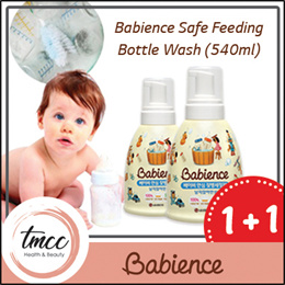 1+1 Babience Safe Feeding Bottle Wash 540ml/For cleaning of baby ware/Organic cert
