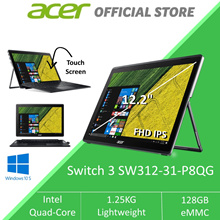 Acer Switch 3 SW312-31-P8QG 2-in-1 Detachable Multi-Touch Laptop