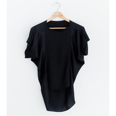 33. loose silky blouse - black - free