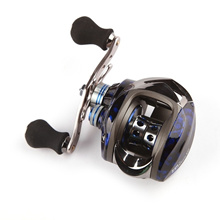 11BB 6.3:1 Left Hand Bait Casting Fishing Reel 10Ball Bearings + One-way Clutch High Speed