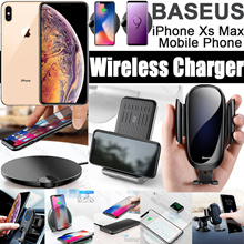 Baseus Wireless Charger Desktop Multifunction Car Holder For iPhone X XS XS  MAX XR 8 7 5c1a84f25280