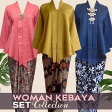 Collection of Blouse Tops Kebaya Suits and Batik Lilit Skirt~~ free shipping~~