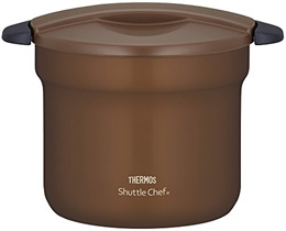 Thermos Vacuum Heat Insulation Cooker shuttle chef 4.3L [for 4 to 6 People] Mocha Kbf-4501 Mc