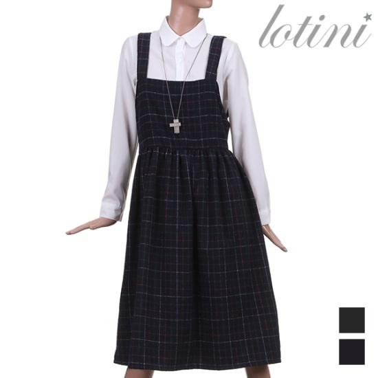 ロティニLOTINIトーンダウン・ステッチパターンワンピースLTKOP09 面ワンピース/ 韓国ファッション