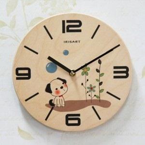 [Azamall BIRCH Puppy Wall Clock PRC-119] gift watch dog home design deco  wedding marriage Birthday present Handicraft