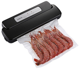 Geryon Vacuum Sealer Machine, Compact Automatic Vacuum Sealing System with Starter Pack of Saver Rol