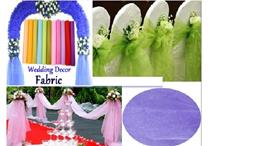 0.75m Wide and 10m length of Organza Fabrics Wedding/Home Decoration Sheer Crystal Organza