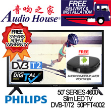 PHILIPS 50PFT4002 50INCH ULTRA SLIM LED TV|DVB-T2 FOR HD 5|3 YEARS WARRANTY