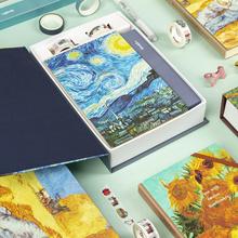 Handbook A5 Van Gogh Journal Diary Handbook Set Travel Notebook Planner with DIY Sticker Washi Tape