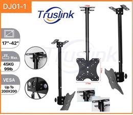 Adjustable Ceiling TV Mount 15° Tilt  360° Rotating Bracket Plasma LCD LED Monitor Flat Panel Displa