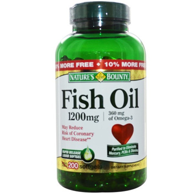 Qoo10 - Natures Bounty Fish Oil Dietary Supplement Coated Softgels 1200mg 180 Count Count of 2