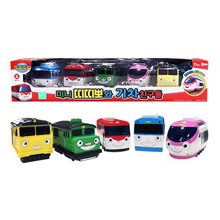 ★Titipo and friends train toy 5P set / Titipo pull back toy train (Qxpress / sweety)