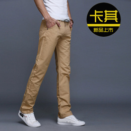 2018 Spring and Winter men s casual trousers men s self-cultivation straight barrel cotton trousers