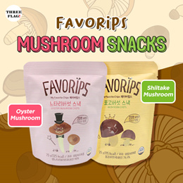 FAVORIPS Organic Healthy Mushroom Chips Snack 25g - Shiitake Chips Oyster Chips