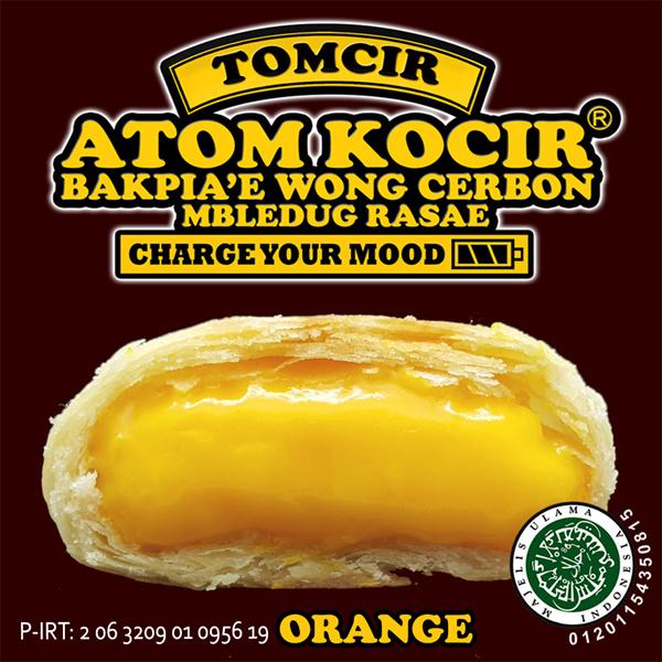 Tomcir Atom Kocir Bakpia khas Cirebon ( 1 paket 3 rasa RANDOM )