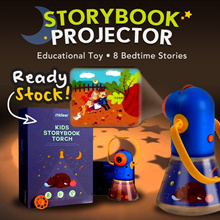 [MiDeer] Best Price storybook projector educational toy 8 bedtime stories/ night light