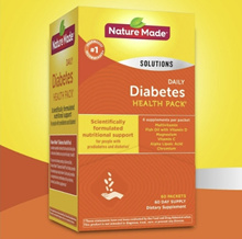 [US Direct Delivery] Nature made Diabetes Health Care Daily Supplement, 60 Packs