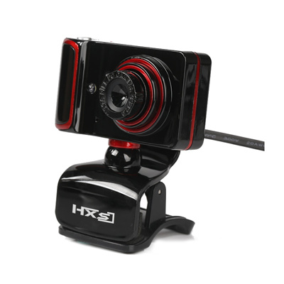 HXSJ HD Webcam USB Web Cam Computer,Microphone,Clip,Manual Focus HD Lens,3  LED Night Version for Vid