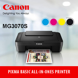 CANON  PIXMA MG3070SAffordable All-In-One printer with Wireless LAN