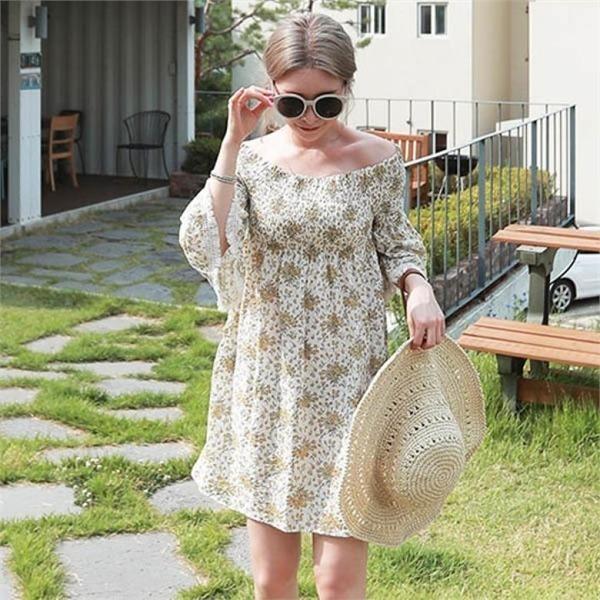 素である愛注意報スモークワンピースnew ミニワンピース/ワンピース/韓国ファッション