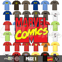 ★Page 1★ Marvel DC Comics 100% Cotton T-Shirt | Super Heroes | Villains | Mutants | Avengers