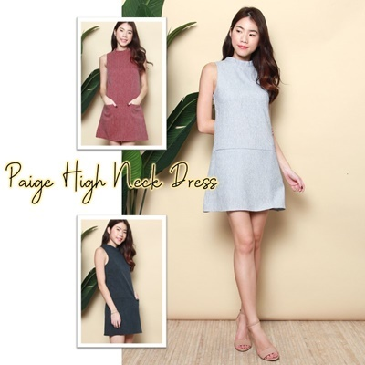 Paige High Neck dress
